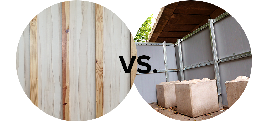 Timber vs Composite Hoarding